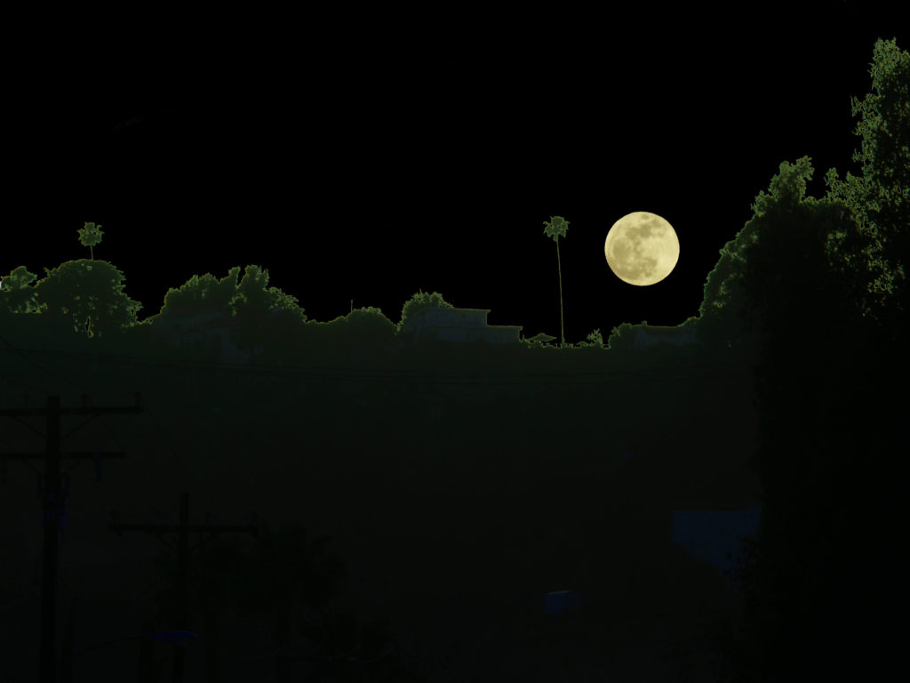 Moonrise over Hacienda Heights
